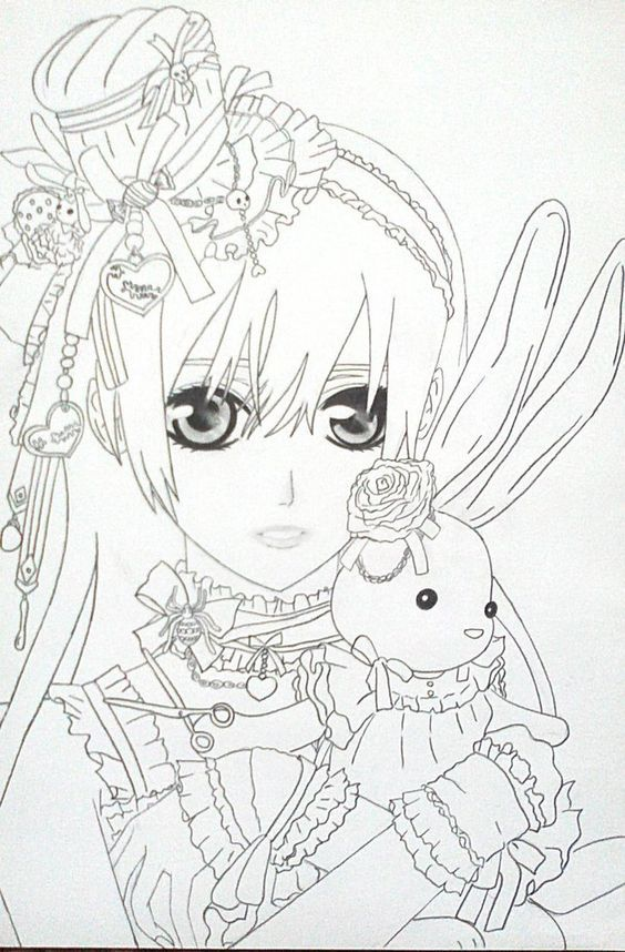anime vampire knight coloring pages - photo#35