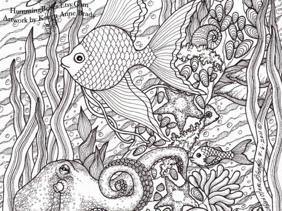 Hard Coloring Pages Fish Coloring Pages