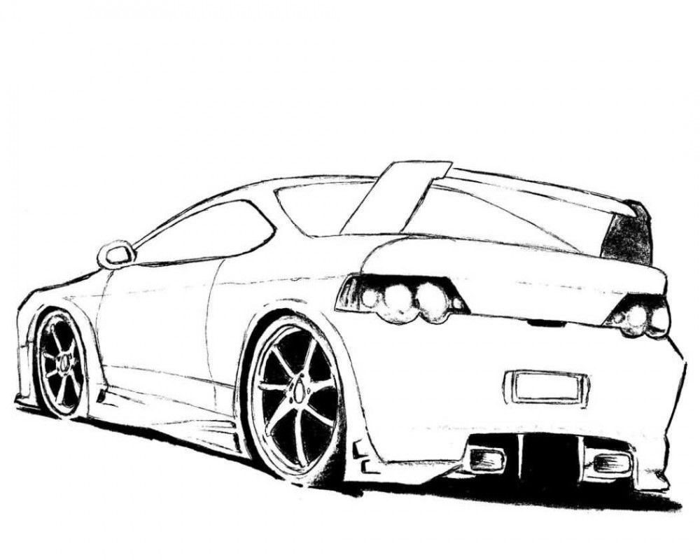Muscle Car Coloring Book Pages
