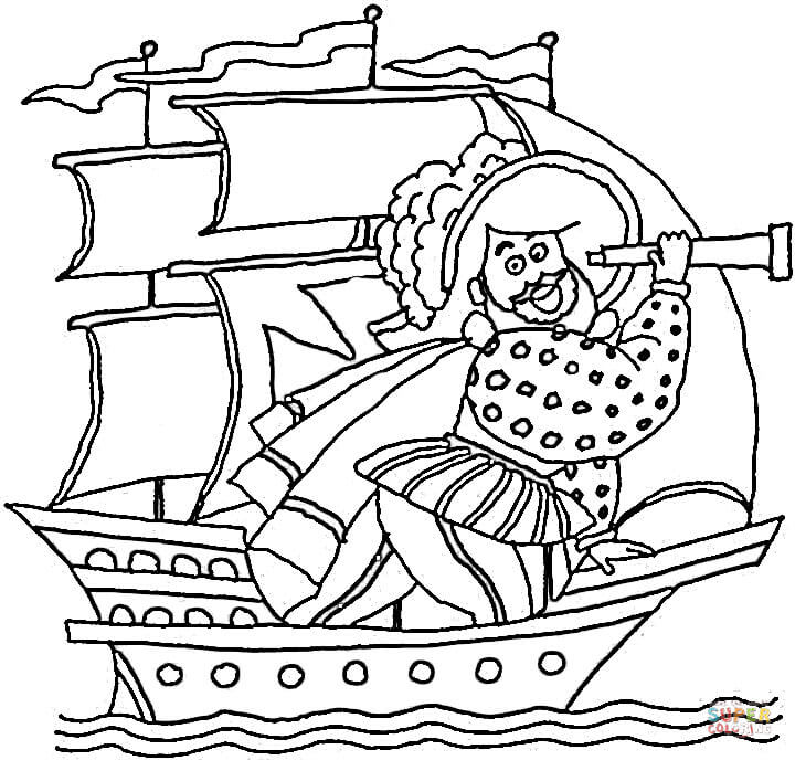 The pinta coloring page coloring home for Columbus coloring page