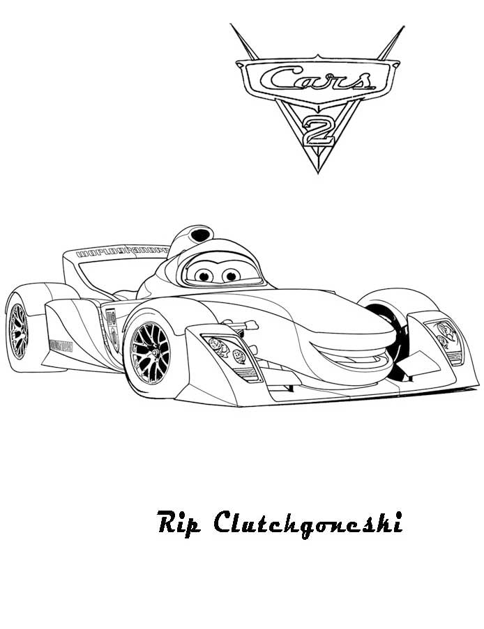 14 Pics of Miles Axlerod Cars 2 Coloring Pages - Cars 2 Lightning ...