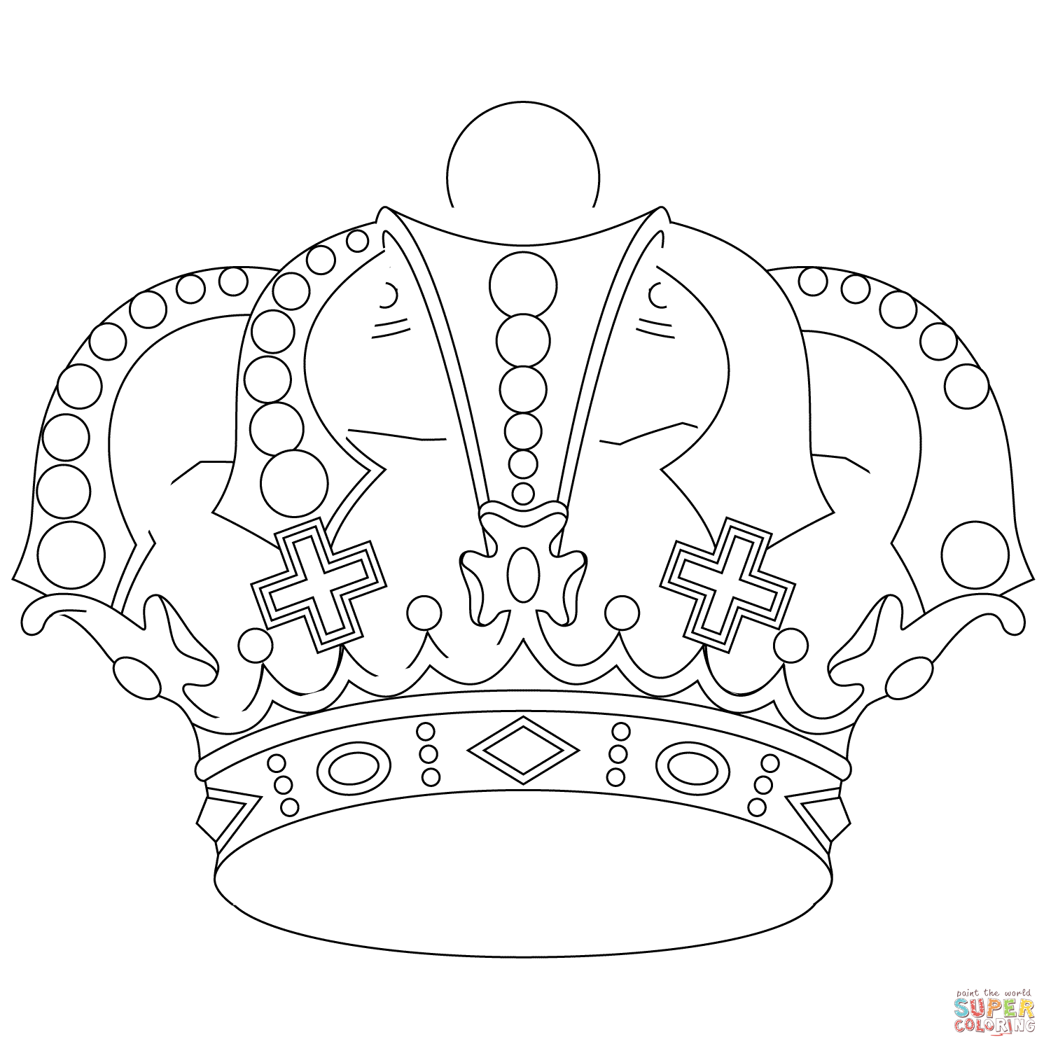 Princess Crown Coloring Pages Printable Coloring Crowns Coloring ...