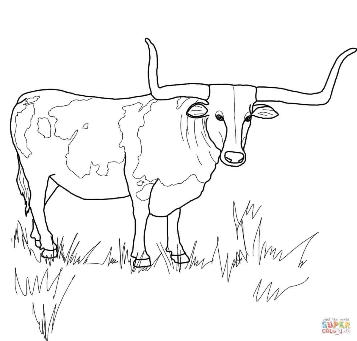 Free coloring pages ferdinand the bull coloring home for Coloring pages of bulls