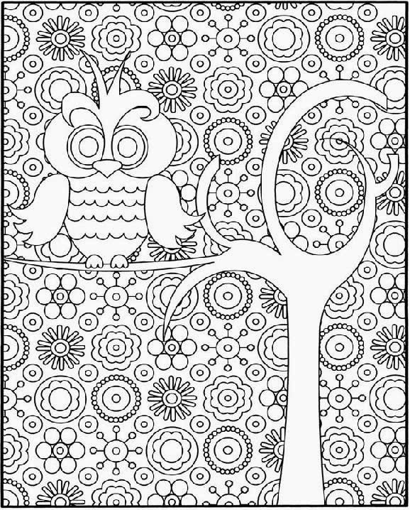 girl difficult coloring pages - photo#9
