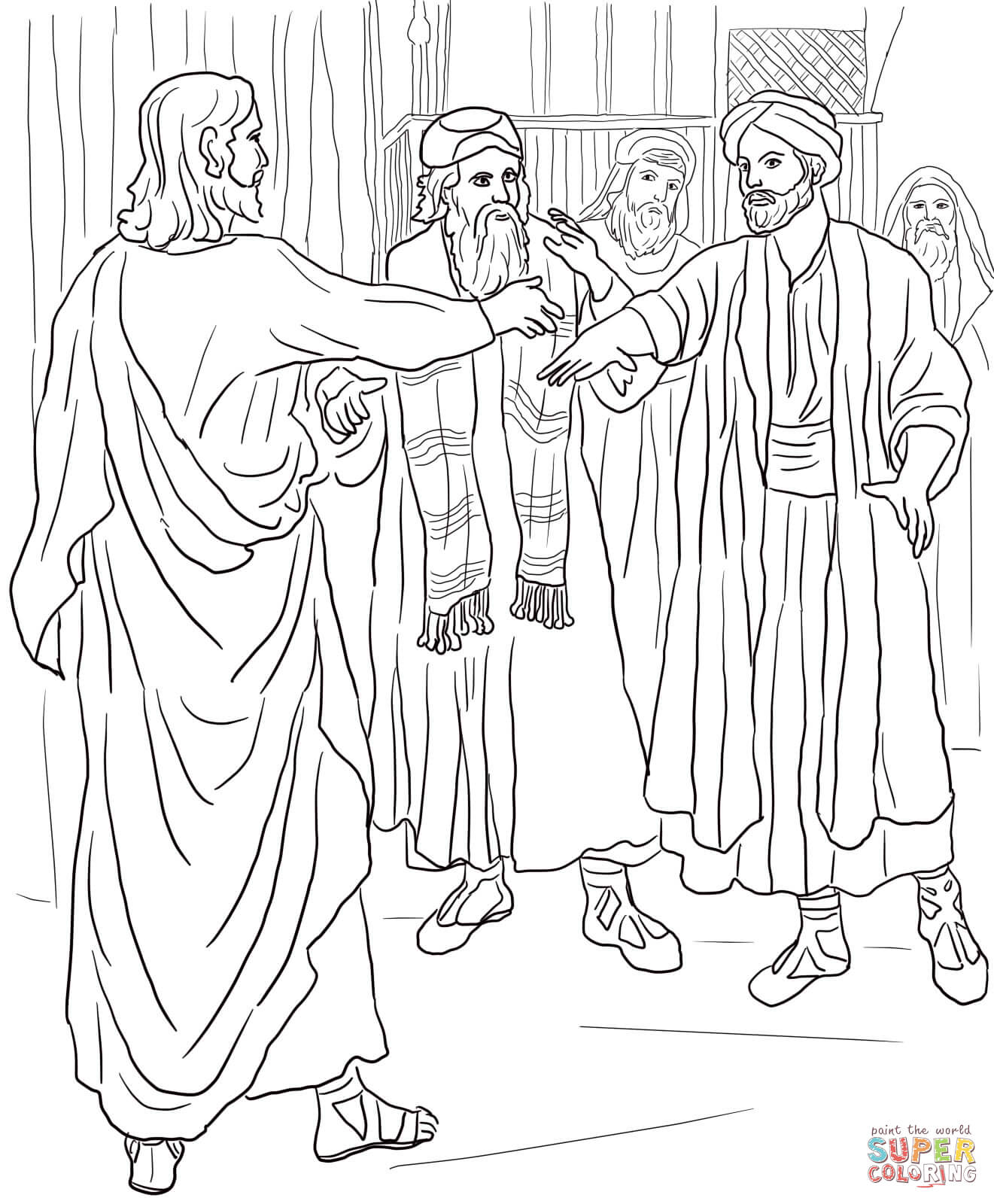 Jesus Heals The Man At The Pool Of Bethesda Coloring Page | Free ...