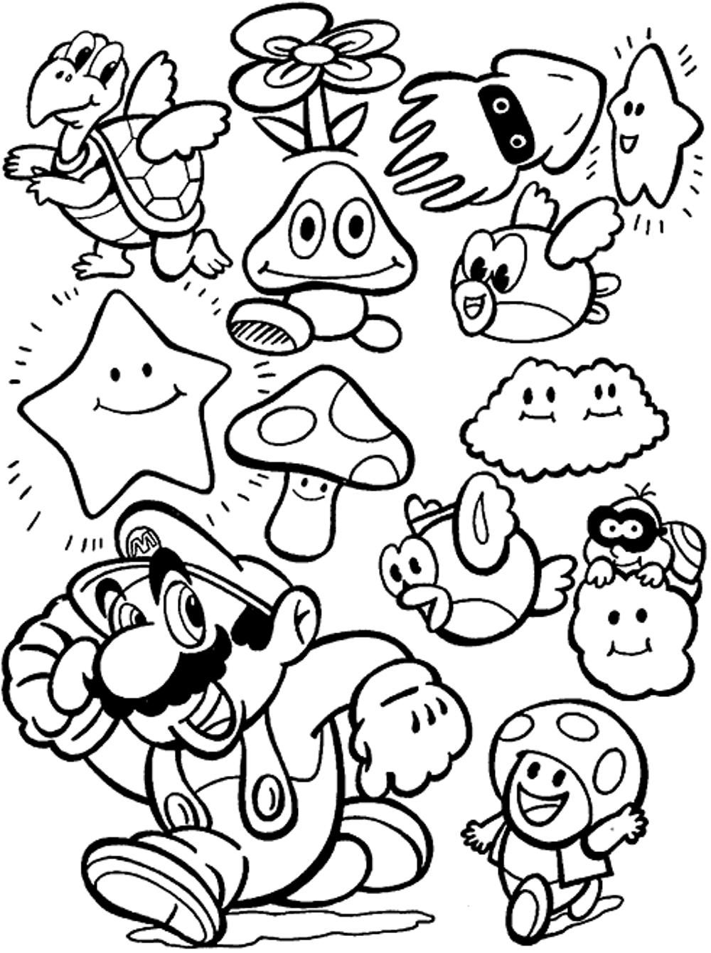 Baby Mario Coloring Pages Printable Kids Colouring Pages