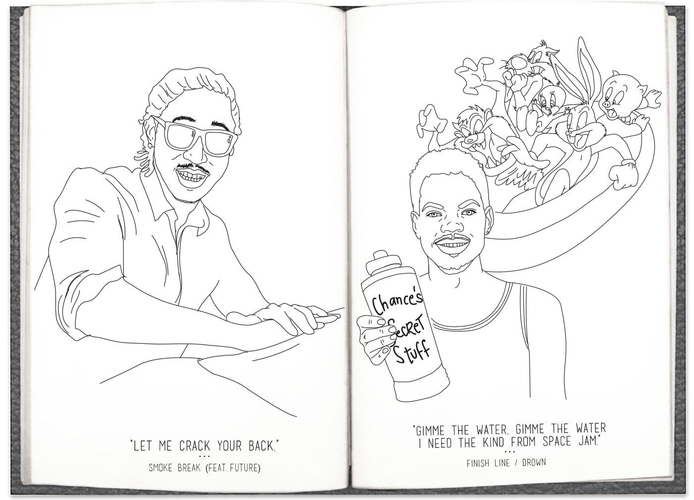 Chance The Rapper S Coloring Book Lyrics Have Been Adapted Into Coloring Home