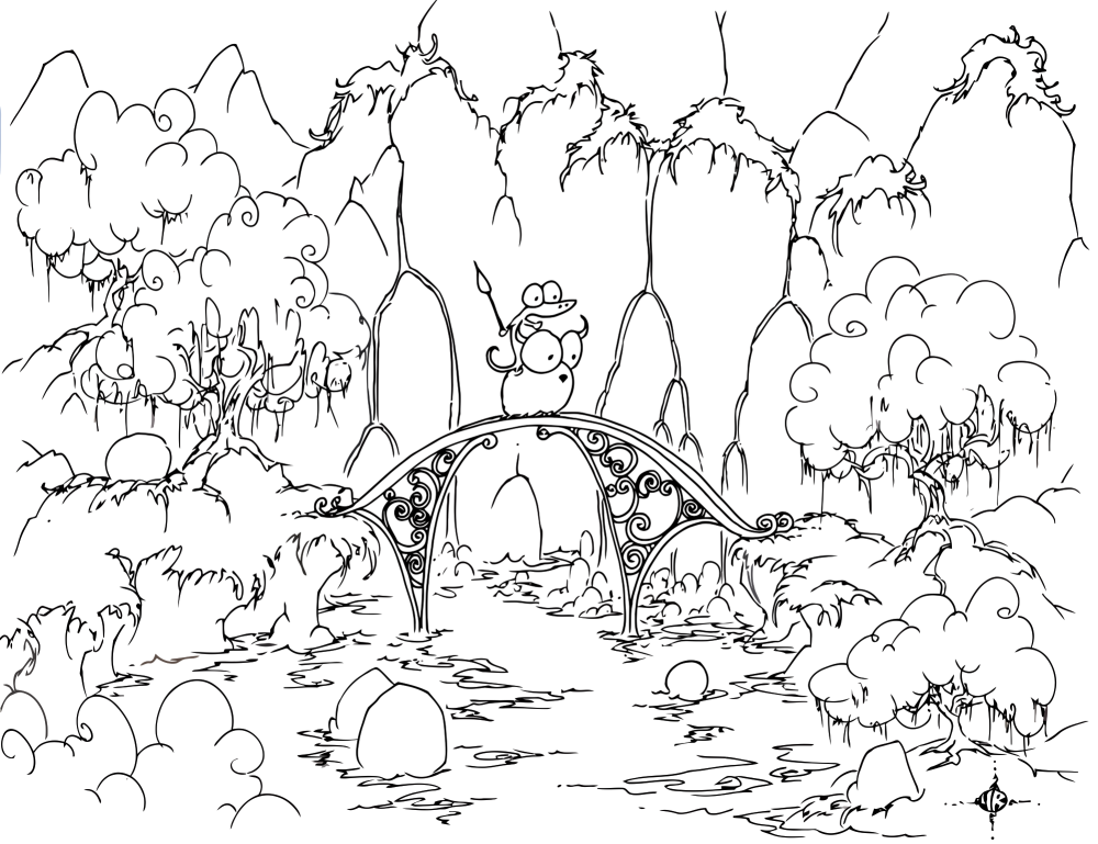 Coloring Pages Of Forest Scene - High Quality Coloring Pages