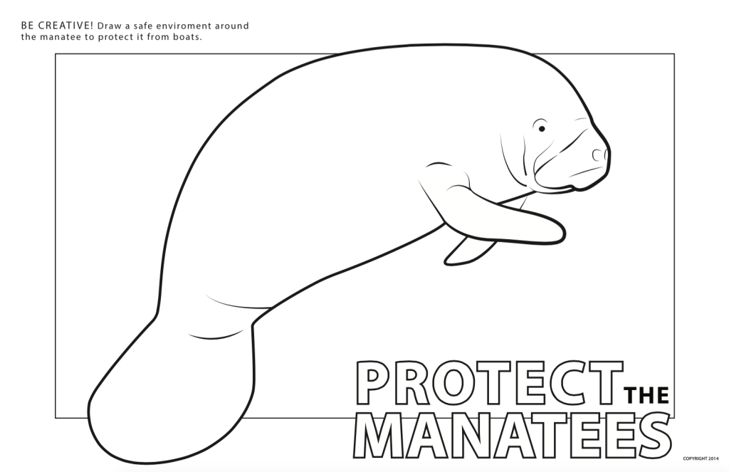 manatee free coloring pages - photo#15
