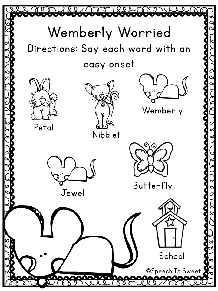 Speech is sweet wemberly worried plus freebies for Speech coloring pages