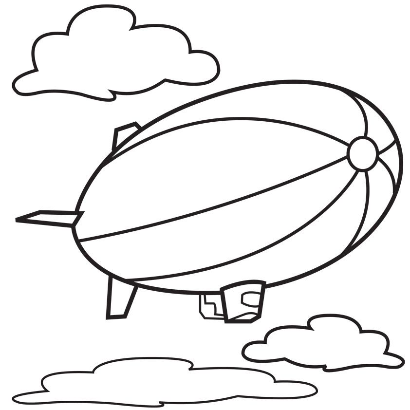 Vintage Hot Air Balloon Coloring Page | Clipart Panda - Free