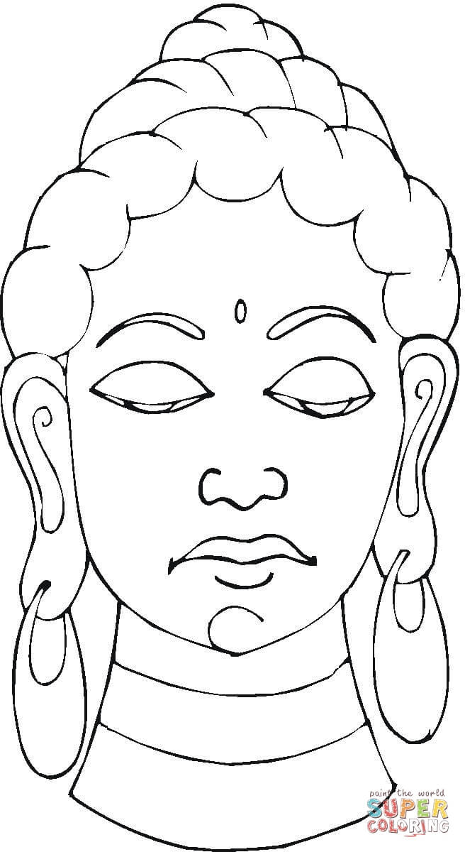 Buddha coloring page | Free Printable Coloring Pages