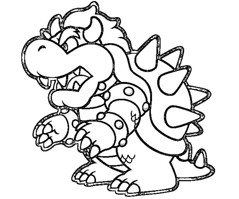 Coloring page of bowser junior coloring home for Bowser jr coloring pages printable