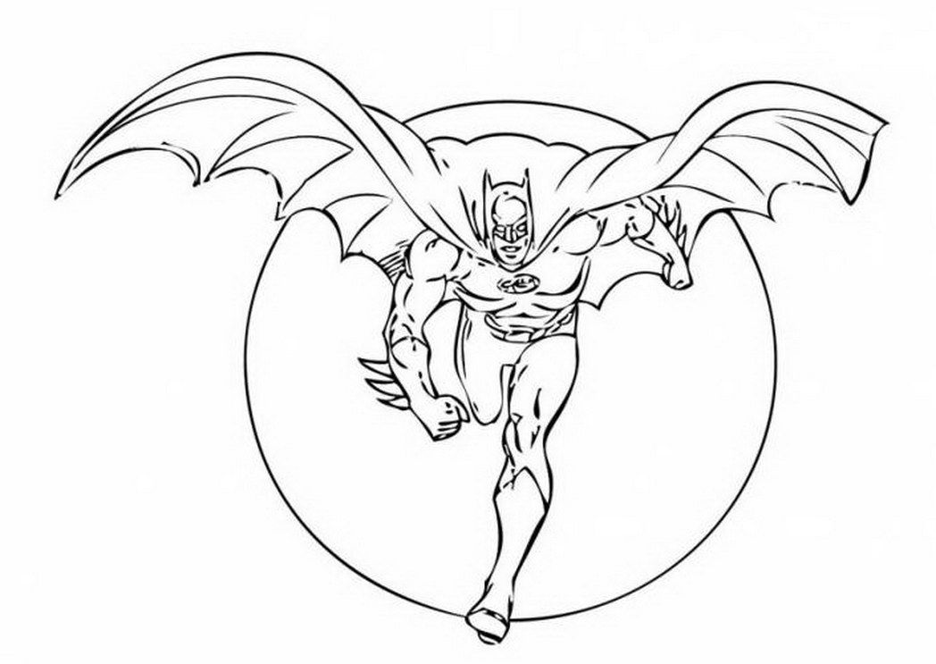 Batman Dark Knight Coloring Pages Free Printable 233109 A