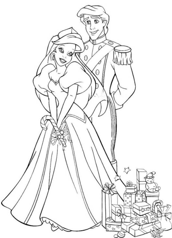 Disney Princesses Cartoon Coloring
