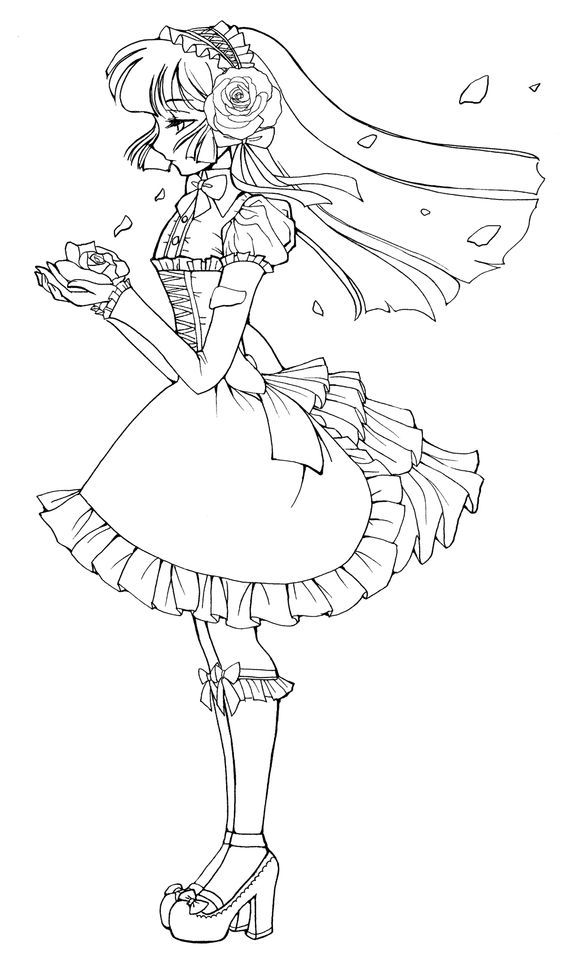anime coloring pages deviantart outgoing - photo#34