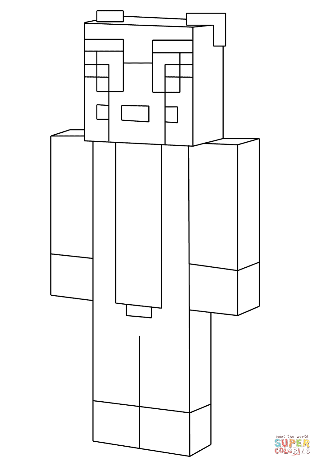 coloring pages minecraft stampylongnose halloween - photo#15