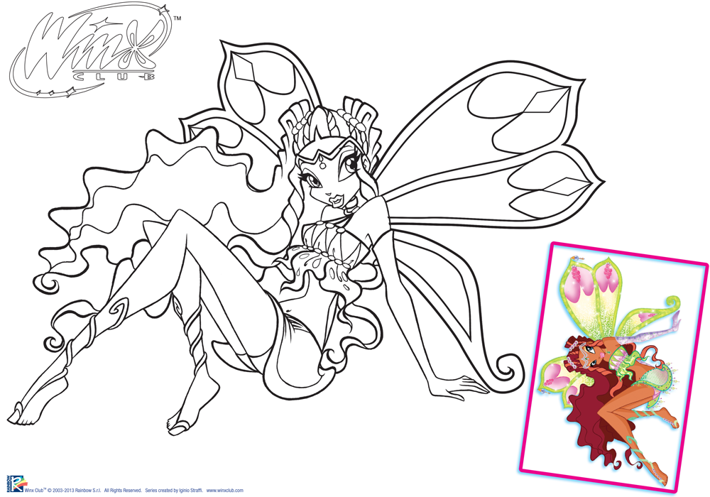 Winx Club Bloom Enchantix Coloring Pages Coloring Home