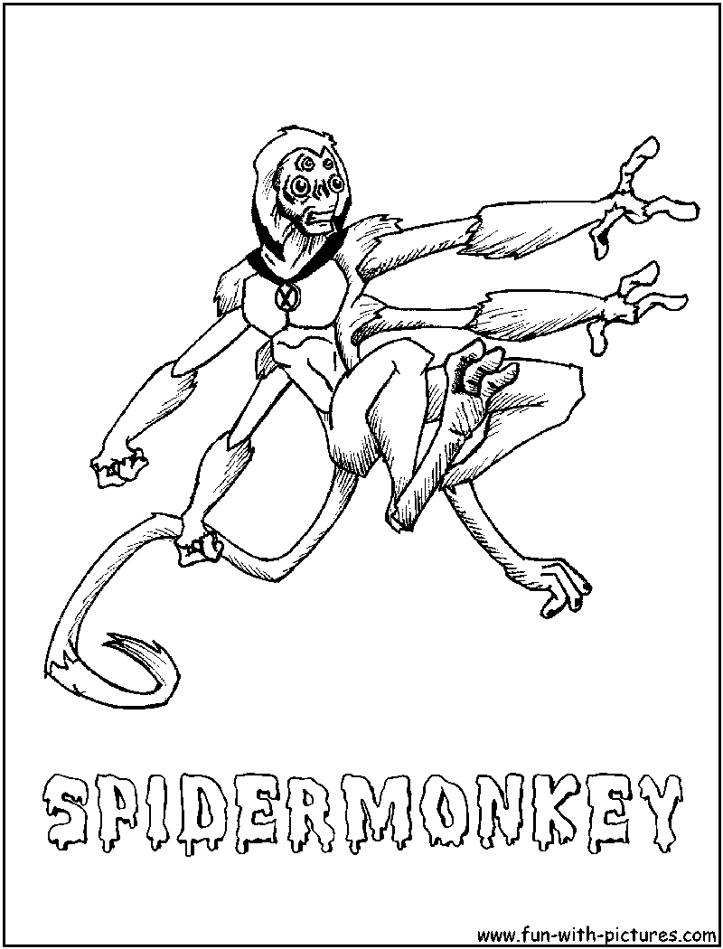 Ben 10 Skeleton Coloring Pages