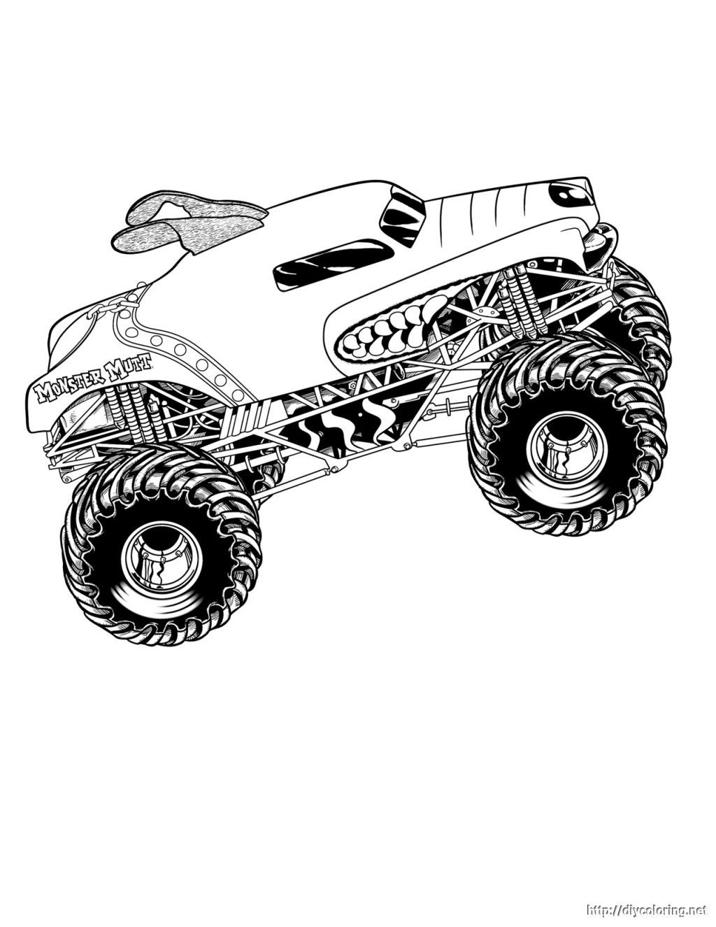 Free Printable Monster Jam Coloring Pages - Coloring Home
