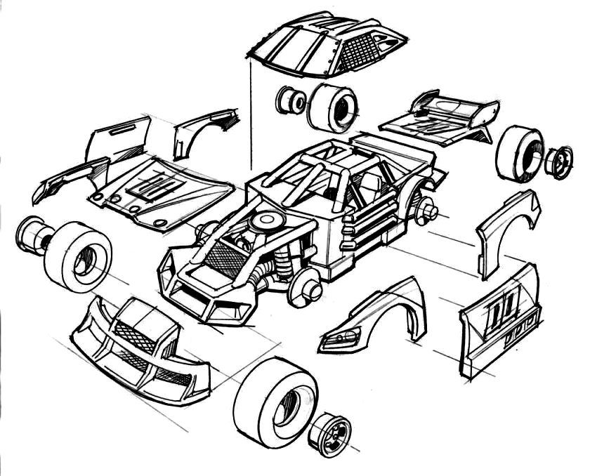 nascar coloring pages - photo#18