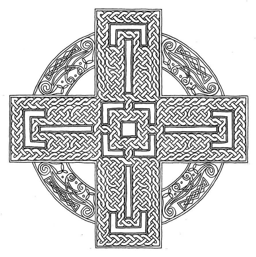 Coloring pages for adults crosses - Mandala Coloring Pages Celtic Mandala Coloring Pages For Adults