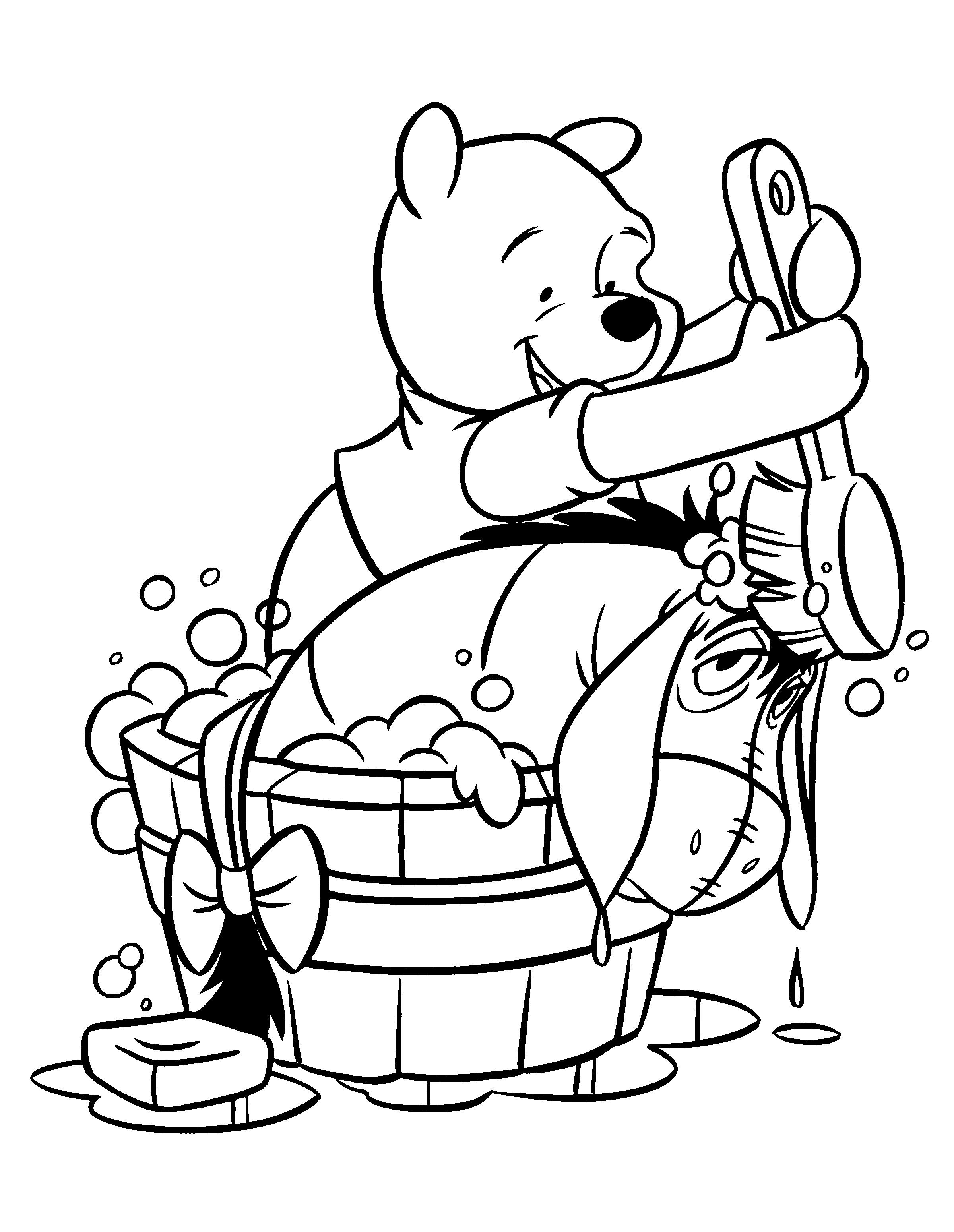 Winnie the pooh and eeyore coloring pages
