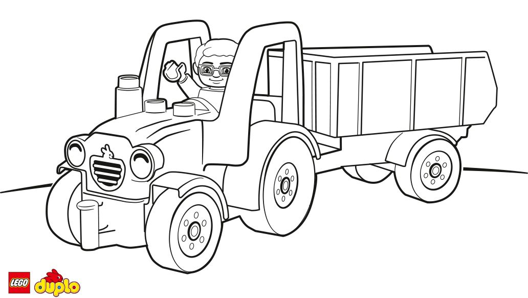 LEGO® DUPLO® Tractor coloring page - Coloring page - Activities ...