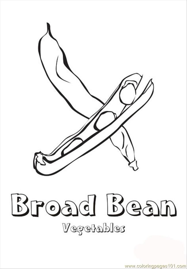 Green Beans Coloring Page Free