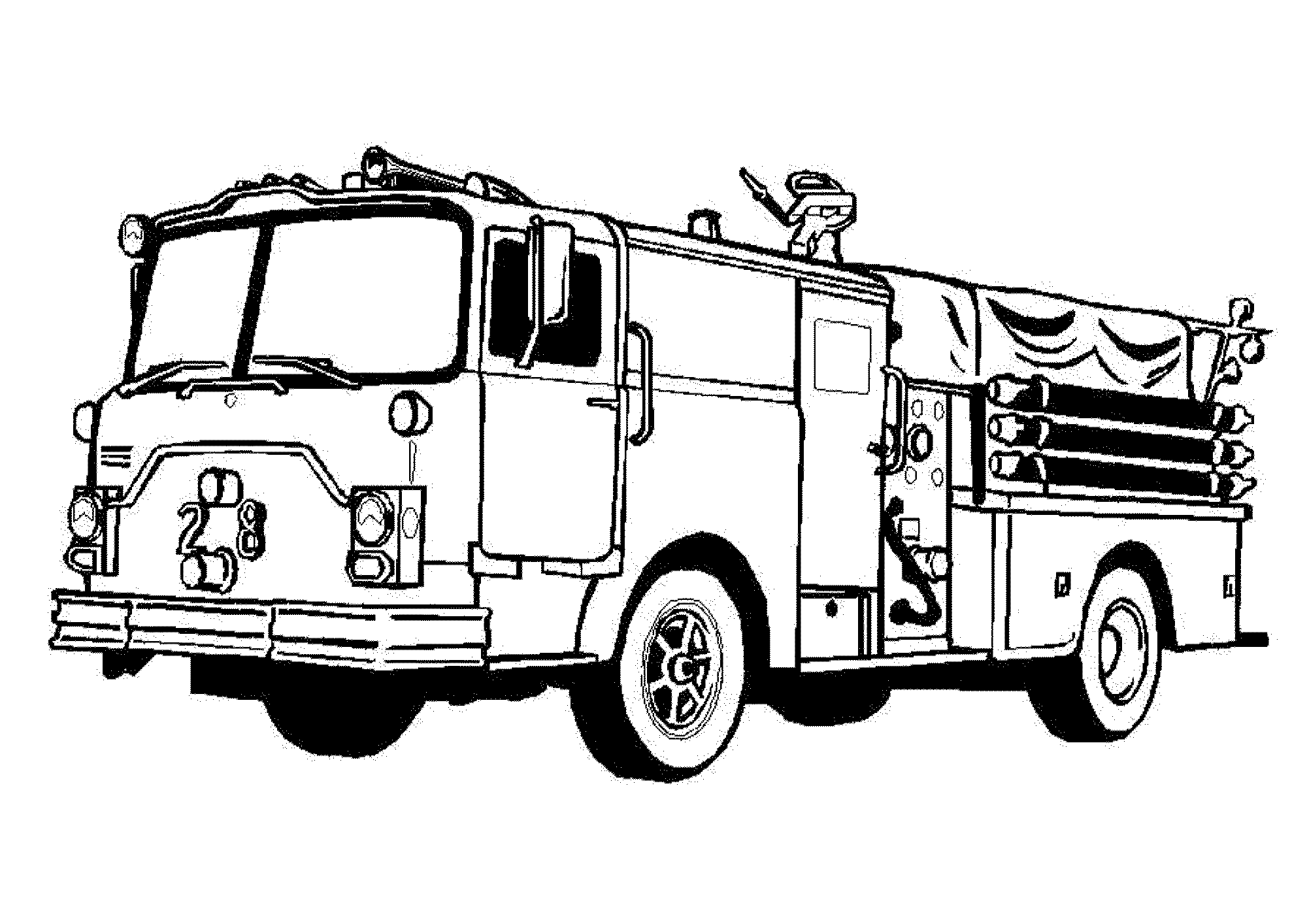 Coloring Pages Fire Truck Free Printable Fire Truck Coloring Pages Police And Fireman .