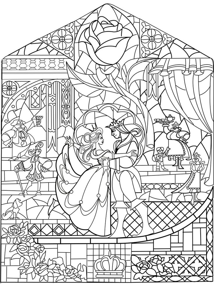 coloring pages beauty and the beast disney - disney beauty and the beast and coloring on pinterest