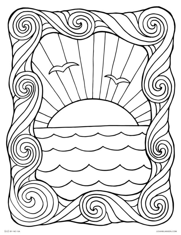 Sunset Coloring Pages - Coloring Home