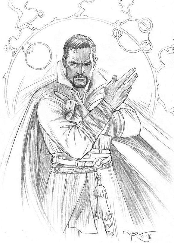 Dr. Strange Coloring Pages - Coloring Home