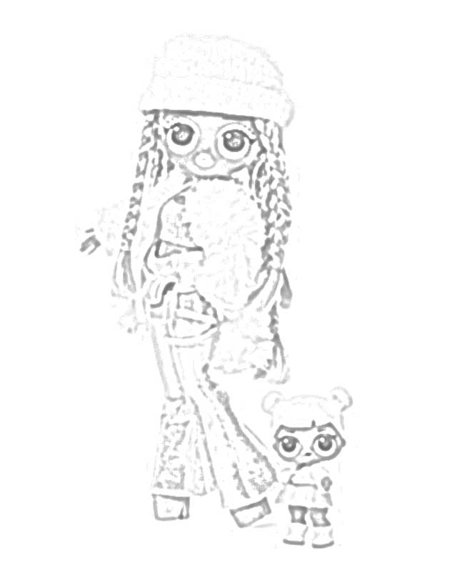 The Holiday Site Coloring Pages Of L O L Surprise O M G Outrageous Millennial Girls Fashion Dolls Coloring Home