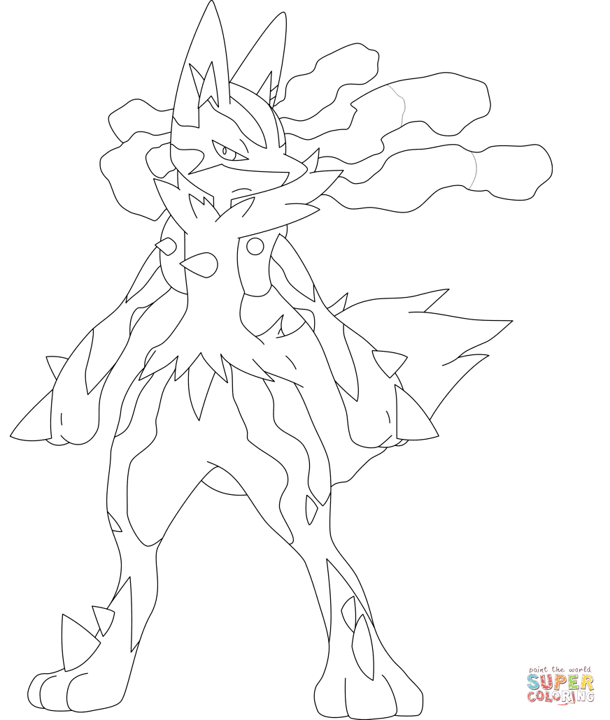 Coloring Pages Pokemon Coloring Pages Lucario lucario coloring pages az page