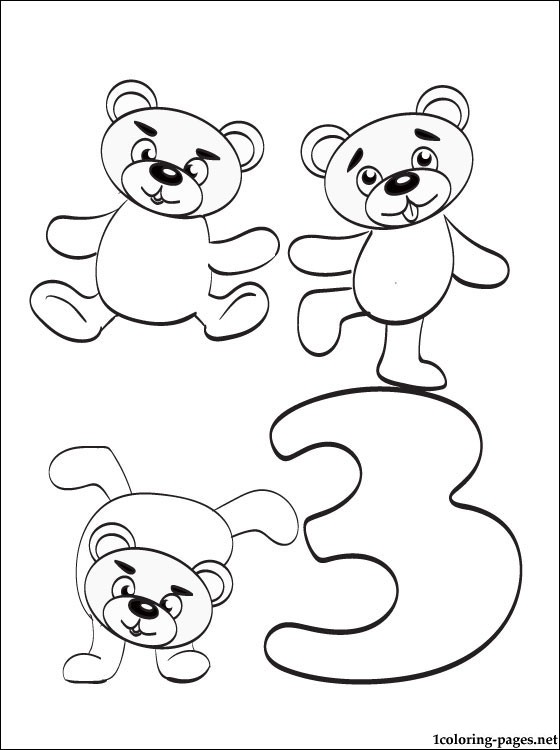 Number 3 Coloring Pages - Coloring Home