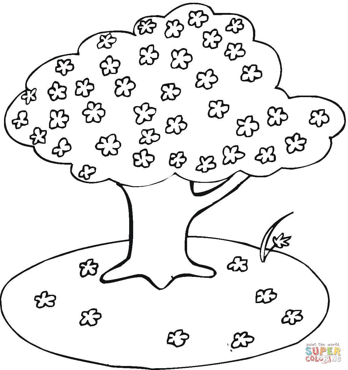 Free Cherry Blossom Coloring Pages, Download Free Clip Art, Free ... | 1200x1129