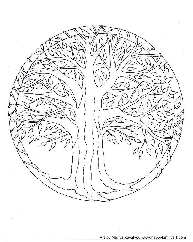 tree mandala coloring pages - photo#24