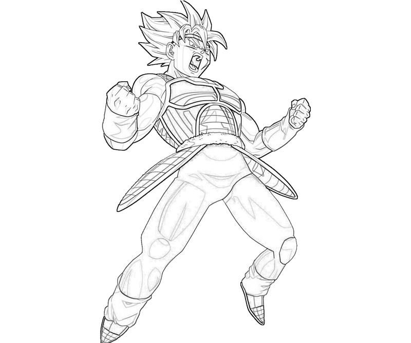 Bardock Coloring Pages Coloring