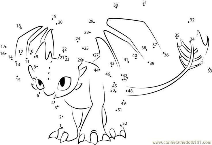 Dragon Dot To Dot - AZ Coloring Pages