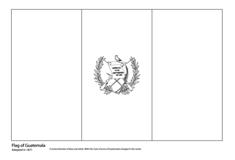 Flag Of Guatemala Coloring Page Coloring Home