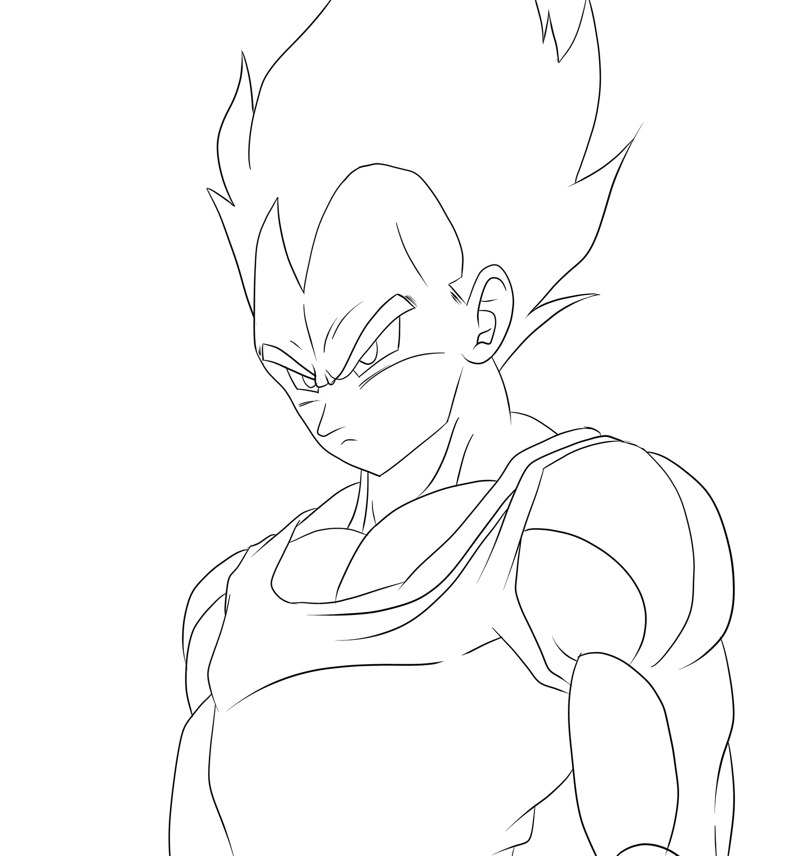 Coloring Pages Vegeta And Goku