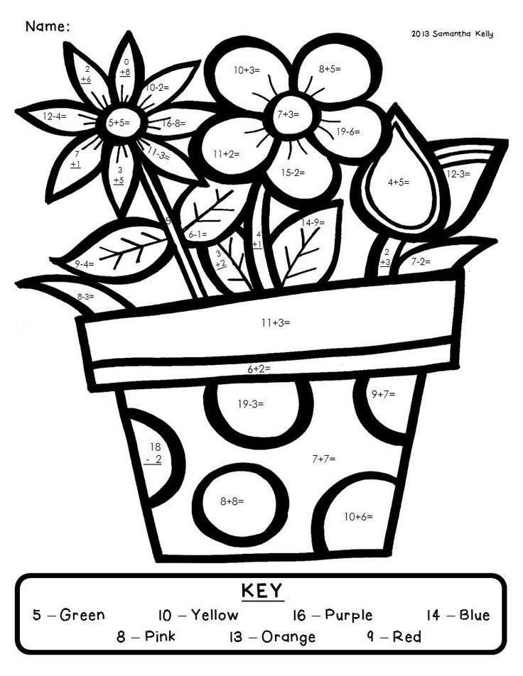 Addition Color By Number AZ Coloring Pages – Color by Number Addition Worksheets