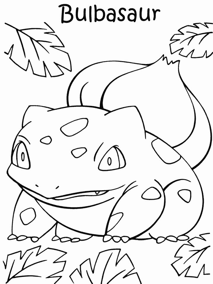 bulbasaur coloring page az coloring pages Pokemon Squirtle Coloring Pages  Bulbasaur Pokemon Coloring Pages