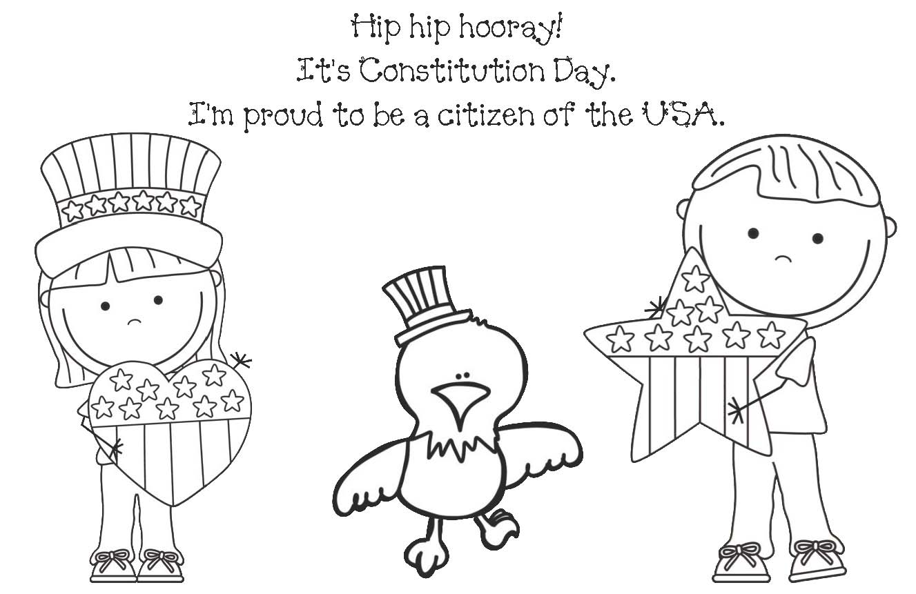 Constitution day coloring page coloring home for Constitution day coloring pages kindergarten