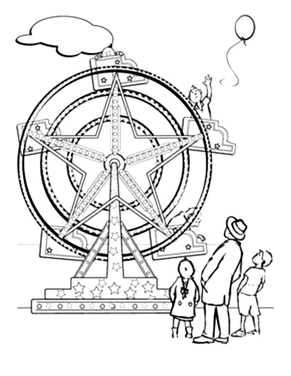 coloring pages of ferris wheel - photo #9