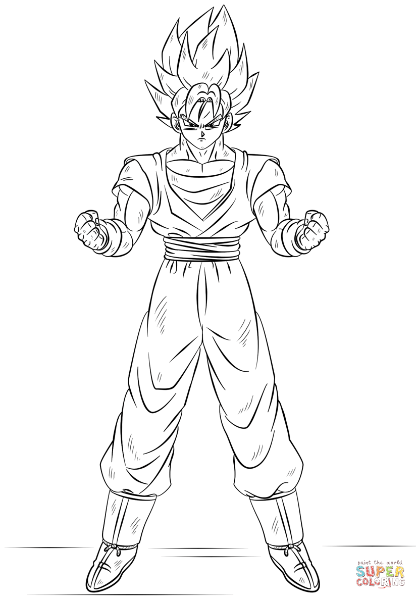 Dragon Ball Super Coloring Pages Coloring Home