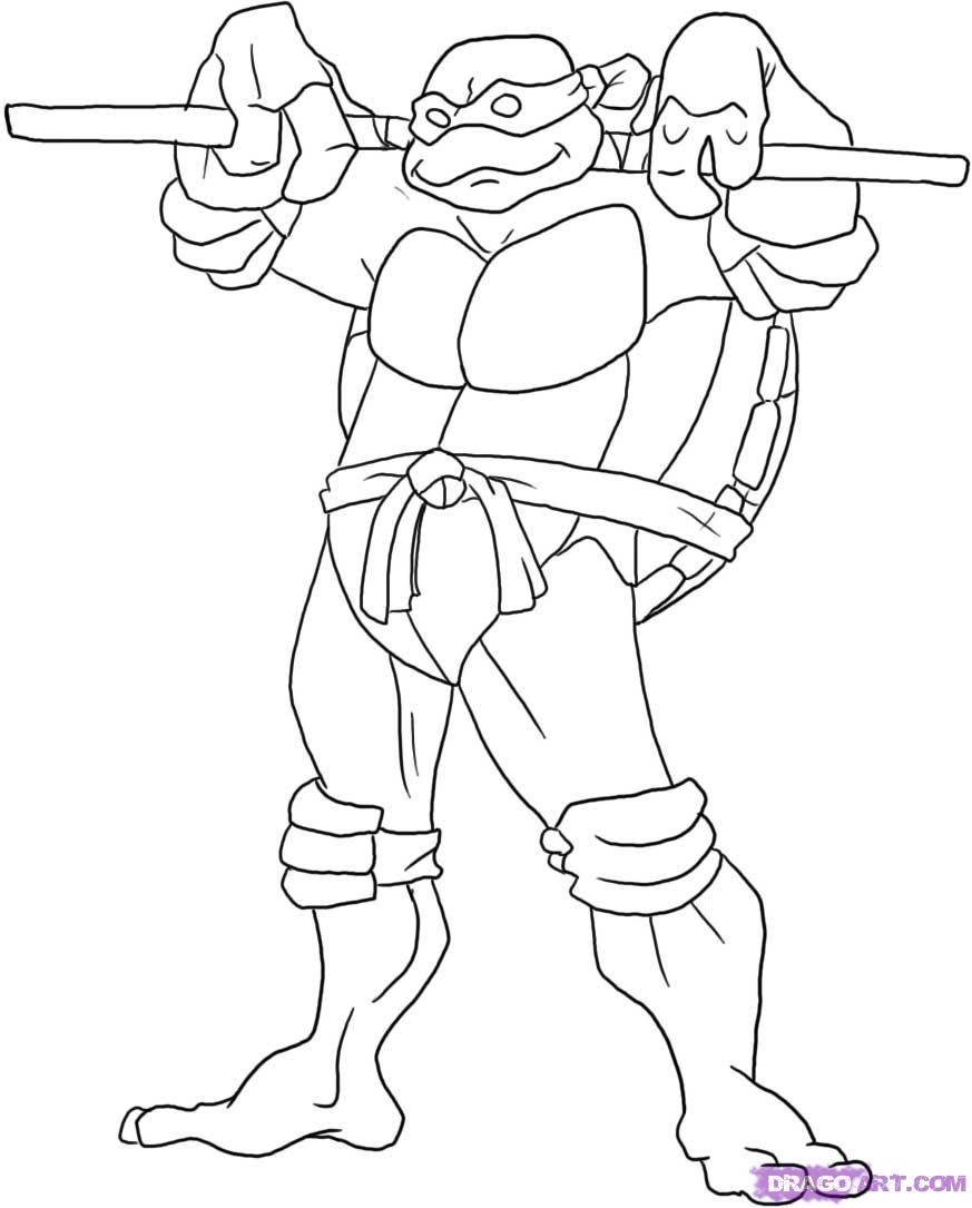 Printable Ninja Turtle Coloring Pages - Coloring Home