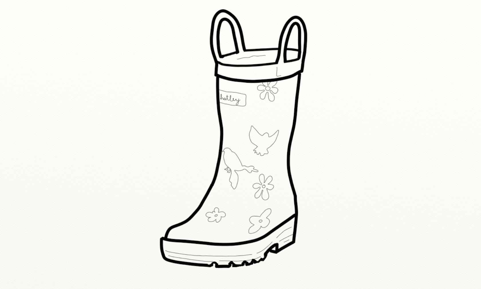 rain boots coloring page shoes mod coloring home