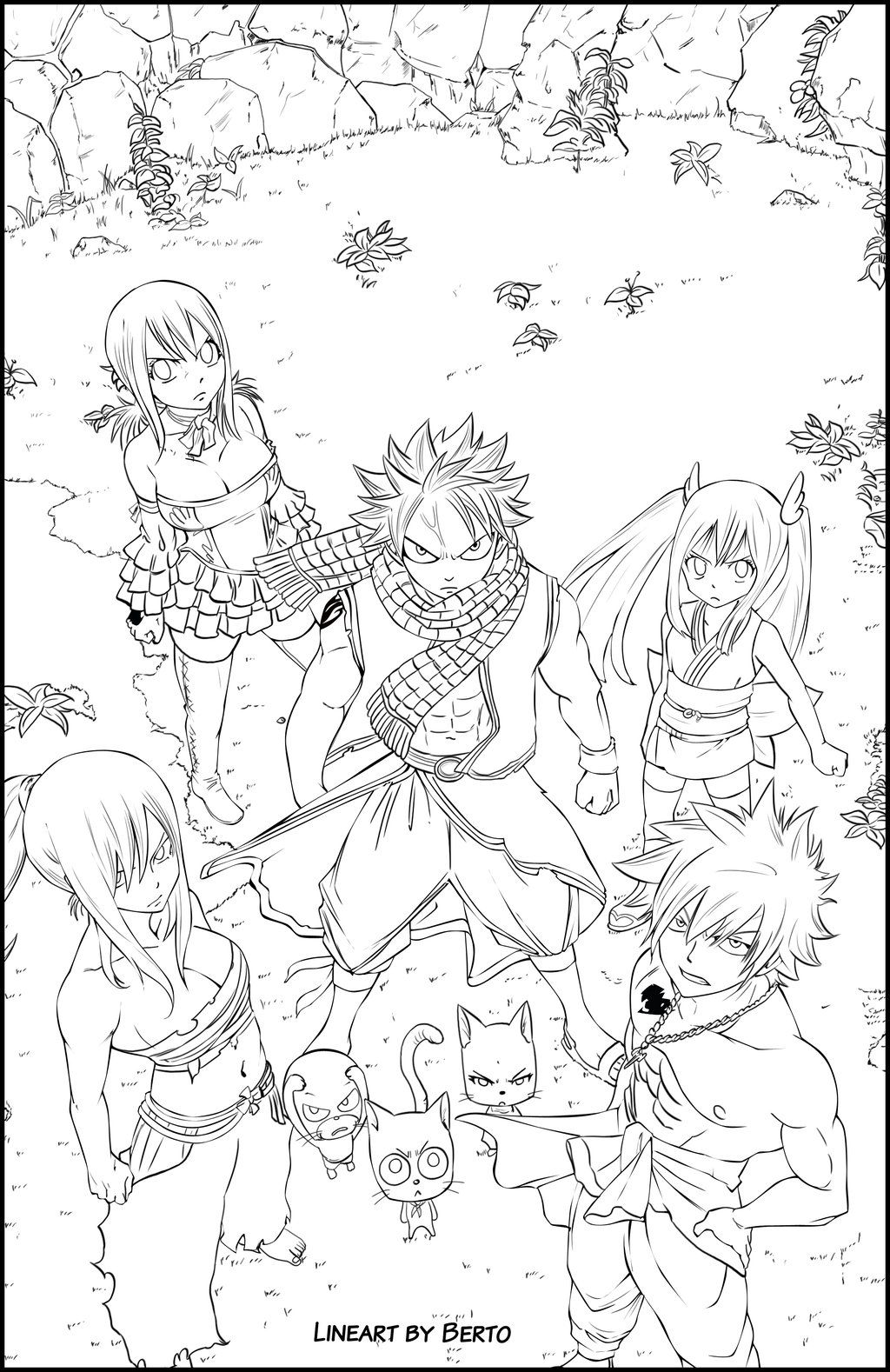 Fairy Tail Anime Colouring Pages - High Quality Coloring Pages